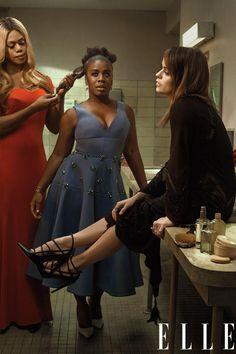 Orange is the New Black   Laverne Cox (Sophia), Uzo Aduba (Crazy Eyes) and Taryn Manning (Pennsatucky)