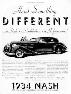 old+nash+automobile+ads | 1934 Nash Vintage Ad #000354
