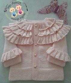 Knitting Designs, Knitting Patterns, Knit Baby Sweaters, Baby Cardigan, Baby Knitting, Baby Dress, Children, Dresses, Fashion