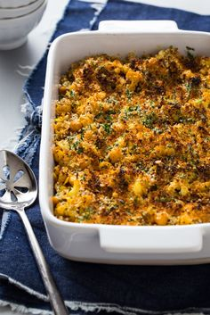 Tender and creamy casseroles and baked pasta dishes might just be the most comforting category of food to exist. Pictured: Roasted Cauliflower and Chickpea Macaroni and Cheese Recipe.