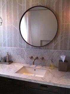 Wallpaper For The Boys Bathroom Love Circle Mirror