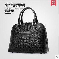 e82ae2abfb28 heimanba Crocodile skin bag female piglet to wipe blue Thai leather handbag  crocodile leather handbag  Affiliate