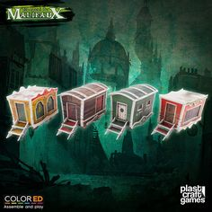 Plast Craft ColorED Malifaux Terrain Circus Wagon Set