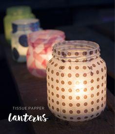 Make Tissue Paper Lanterns by Pysselbolaget