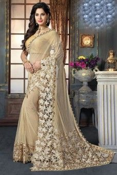 Camel Color Attractive Party Wear Indian Designer Saree  #mahotsav #georgette #traditional #festive
