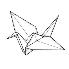 You have known more about origami. Then, you should know how to origami crane easily. Let's see the explanations below! The first step Prepare square paper, then fold diagonally to form a triangle with the color side on the outside. Paper Crane Tattoo, Origami Paper Crane, Origami Butterfly, Origami Cranes, Origami Swan, Paper Cranes, Origami Tattoo, Useful Origami, Origami Tutorial