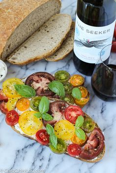 #SeekAdventure with recipes inspired by your travels like this Ricotta Tomato Toast by @chezcateylou!