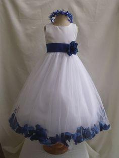 Royal Blue Flower Girl Dress... so cute