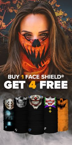 200 Designs and 10 Ways to Wear. UPF 40 Microfiber Face Shields make Easy Halloween Masks. All Face Shields come with a Lifetime Warranty! Join the SA Team Today! Diy Halloween Costumes For Women, Hallowen Costume, Halloween 2019, Easy Halloween, Halloween Masks, Halloween Makeup, Halloween Decorations, Halloween Party, Halloween Painting