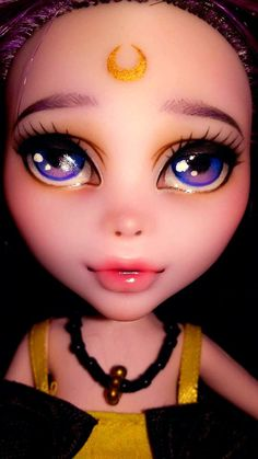 OOAK MH Sailor Moon Luna inspired Elissabat doll by Obscureartist