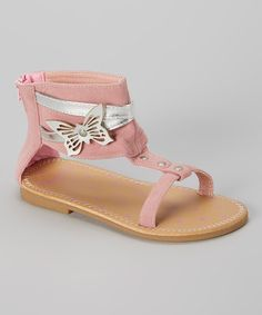 Another great find on #zulily! Vitamins Baby Pink & Silver Butterfly Sandal by Vitamins Baby #zulilyfinds