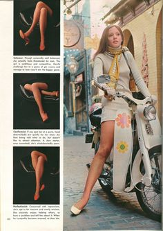 Vintage Playboy magazine language of legs