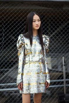 robochic — love those sleeves and metallic pattern. I'd love to have this with a deep v-neck and maybe a higher-contrast pattern near the face.