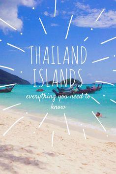 Advice for visiting Thailand and its many paradise islands. where to go island hopping, snorkelling, diving, beautiful beaches and travel information Khao Lak Beach, Ao Nang Beach, Railay Beach, Visit Thailand, Thailand Travel, Asia Travel, Thailand Island Hopping, Lamai Beach, Koh Lipe