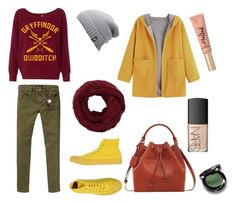 """""""№62"""" by origganna ❤ liked on Polyvore featuring Maison Scotch, Converse, Violeta by Mango, The North Face, NARS Cosmetics and Too Faced Cosmetics"""