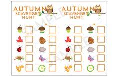 Autumn Scavenger Hunt Printable-athomewithnatalie