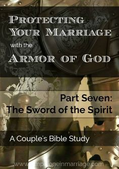 Are you protecting your marriage with God's most powerful weapon? This Couple's Bible Study looks at how God's Word can help us fight the attacks of the enemy and keep our marriages strong. | Simply One in Marriage.