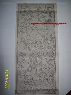 The post appeared first on Gardinen ideen. Crochet Curtains, Crochet Tablecloth, Crochet Doilies, Filet Crochet Charts, Free Crochet, Knit Crochet, Cross Stitch Patterns, Crochet Patterns, Sarah Kay