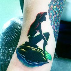 Little Mermaid silhouette done by @pablodct #inkeddisney