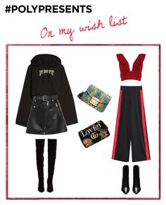 """""""On my wish list #PolyPresents: Wish List"""" by mullemullr on Polyvore featuring Gucci, Puma, Boohoo, Maje, Christian Louboutin, Furla, Yves Saint Laurent, contestentry and polyPresents"""