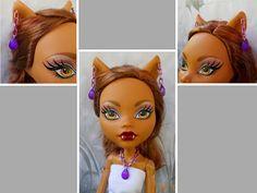 """Doll Jewelry, 16"""" Doll Jewelry, Purple Chain Acrylic Drop Necklace, Doll Purple Drop Earrings, Monster Doll Jewelry, 17"""" Doll Jewelry, BJD by FAIRLYGHOULISH on Etsy"""