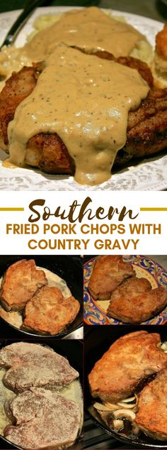 Southern Fried Pork Chops with Country Gravy dinner comfortfood pork southern porkchops 547468898453895402 Graham Crackers, Southern Fried Pork Chops, Best Fried Pork Chops, Pork Chop Dinner, Dinner With Pork Chops, Meals With Pork Chops, Pork Dinner Ideas, Pork Chops And Gravy, Thin Pork Chops