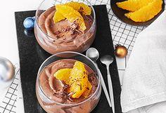 Schokocreme mit Orangen Orange, Acai Bowl, Ice Cream, Breakfast, Food, Sweet Desserts, Easy Meals, Kuchen, Food Food