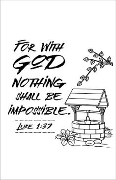 Nothing Is Impossible With God Scriptures Coloring
