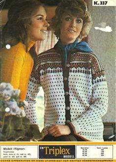 Rigmor k 337 Norwegian Knitting, Knitting Patterns, Leather Jacket, Retro, Barn, Craft Ideas, Fashion, Model, Knitting Stitches