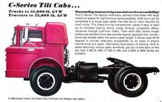 1968 Ford C Series Tilt Cab Semi Tractor