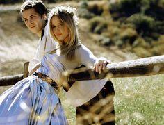 Luke Grimes and Jennifer Lawrence in Teen Vogue.