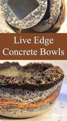 Live Edge Concrete Bowls