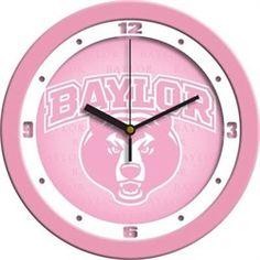 Baylor University Bears Glass Wall Clock