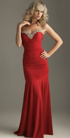 Style Mermaid Red Sexy Sweetheart Long Length Ruffles Elegant Valentine Dress