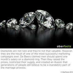 The Incredible Story Of How De Beers Created And Lost The Most Powerful Monopoly Ever Buy Diamonds Online, Quality Diamonds, Weird Facts, Fun Facts, Awesome Facts, Crazy Facts, Random Facts, Random Things, Human Kindness