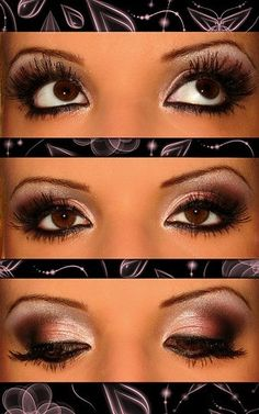 Pink/brown smokey eye