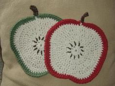 Apple Crochet Washcloth