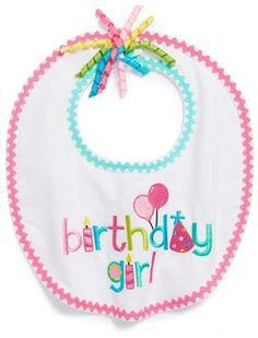 Mud Pie 'Birthday Girl' Bib (Baby Girls) on shopstyle.co.uk