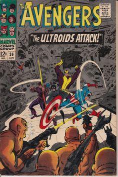Avengers (1963 1st Series) #36, January 1967 Issue - Marvel Comics - Grade G/VG