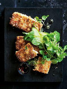 crispy chia tofu