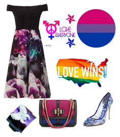 """""""#lovewins Pride Outfits : Bisexual"""" by becomeacharacter ❤ liked on Polyvore featuring Ariella, Dolce&Gabbana, Christian Louboutin, bisexual, lgbtq and lovewins"""