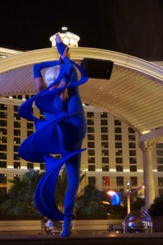 Fabulous Blue - twist shape from Novelty Entertainment, atmosphere performance for special event at Chateau Club, Paris Hotel Las Vegas