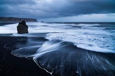 """amazing-unusual-beaches"" Vik Beach, Iceland~Iceland is a land with a lot of volcanic activity, which is why black volcanic beaches are so common there. Image credits: Stephan Amm"