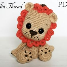 Elfin Thread -Leander the Chibi Lion Amigurumi PDF Pattern (lion crochet pattern) by ElfinThread on Etsy Crochet Gifts, Crochet Dolls, Crocheted Toys, Amigurumi Patterns, Amigurumi Doll, Crochet Pillow Pattern, Crochet Patterns, Crochet Lion, Crochet Baby