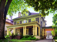 The house is a nicely detailed American Foursquare, built in the Whittier neighborhood of Minneapolis in 1905. Its Colonial Revival elements include ...