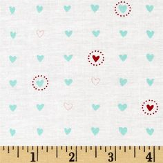 Great for Quilting Heartfelt by Peg Conley for Clothworks Sewing! Purple and Red Watercolor Hearts on Pink Fabric 100/% Cotton