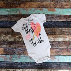 Bless your Heart Valentines Day Girls Shirt by SweetTeaSpecialties