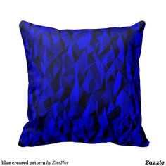 blue creased pattern throw pillows