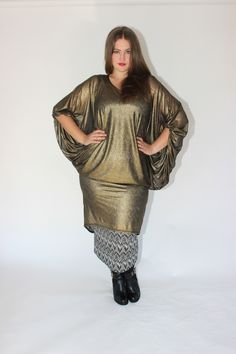 DRAPPED IN GOLD   OUR BON VOYAGE DRESS - GOLD MESH