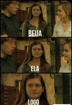 Sou a Gina da vida kkk Blaise Harry Potter, Harry Potter Jk Rowling, Harry James Potter, Harry Potter Tumblr, Harry Potter Memes, Harry Potter World, Hogwarts, Saga, Harry Otter
